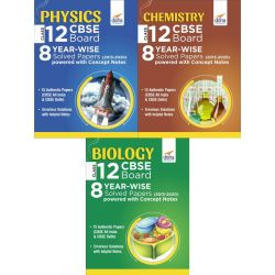 Physics, Chemistry & Biology Class 12 CBSE Board 8 YEAR-WISE (2013 - 2020) Solved Papers powered with Concept Notes