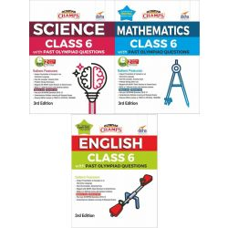 Olympiad Champs Science, Mathematics, English Class 6 with Past Questions 3rd Edition (set of 3 books)