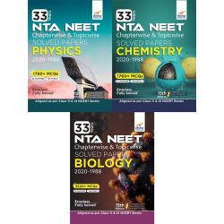 33 Years NEET Chapterwise & Topicwise Solved Papers Physics, Chemistry & Biology (2020 - 1988) 15th Edition