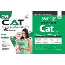 26 Years CAT Topic-wise Solved Papers (2019-1994) with 10 Practice Sets