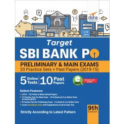 Target SBI Bank PO Preliminary & Main Exam - 20 Practice Sets + Past Papers (2019-15) - 9th Edition